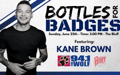 Kane Brown – Bottles For Badges – June 25