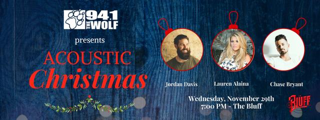 Acoustic Christmas w/ Lauren Alaina, Chase Bryant, and Jordan Davis – November 29